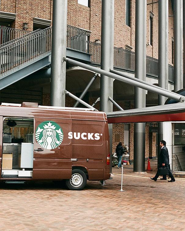 Starbucks van fail